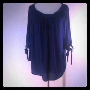 A. Peter Nygard 16 Royal blue blouse.